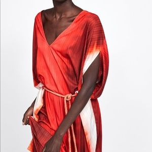 NWT's Zara Greece Goddess Red Dress Size Medium